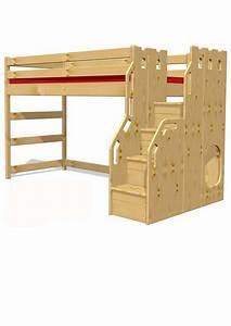 Hochbett Holz Kinder : hochbett traum burg kinderm bel aus holz aus ~ Michelbontemps.com Haus und Dekorationen