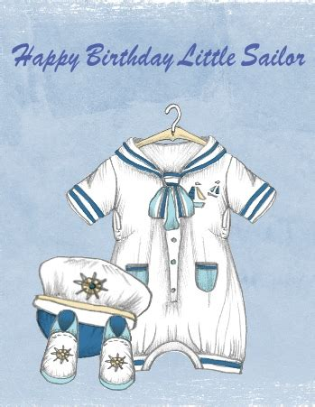 birthday baby sailor  happy birthday ecards greeting