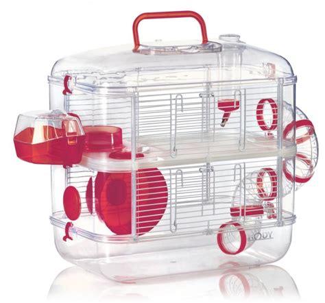 cage hamster souris duo rodylounge cerise animaloo