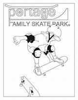 Coloring Skateboard Ramp Template sketch template