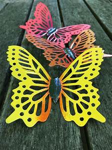 Set, Of, 3, Butterfly, Fence, Art, Hanging