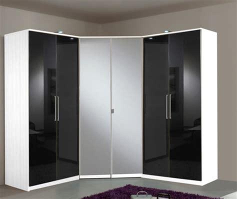 armoire chambre à coucher armoire d angle avec miroir gamma blanc 139