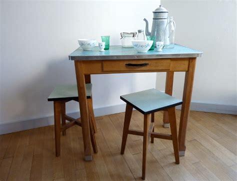 table bois cuisine table bois et zinc feeb 39 s shop
