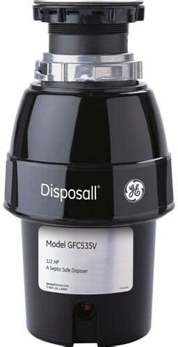 waste king garbage disposal flange ge gfc535v 1 2 hp continuous feed waste disposer with