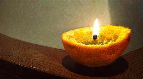 come creare una candela come creare una candela con un arancia