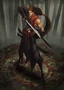 Samurai Concept Art Character
