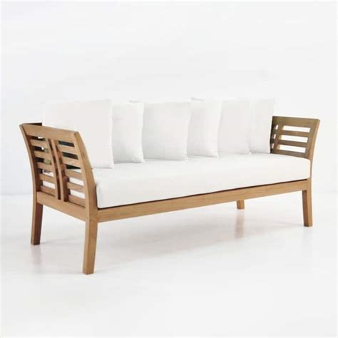 plantation teak outdoor sofa  seater patio couch