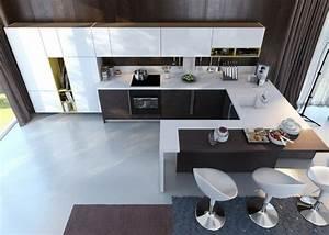 La cuisine en u avec bar voyez les dernieres tendances for Deco cuisine avec modèle de chaises design