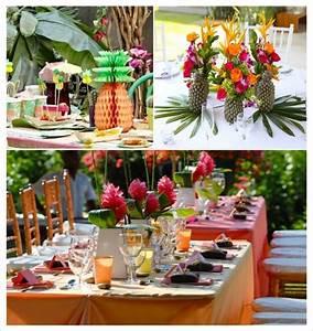 Deco Centre De Table Mariage : decoration mariage tropical ~ Teatrodelosmanantiales.com Idées de Décoration