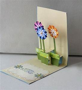 Pop Up Karte : mines michaelsen glinder bastelkreis papierblumen mit motivstanzer pop up karte 3 blume 0 ~ Markanthonyermac.com Haus und Dekorationen
