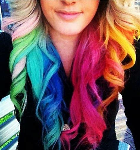Rainbow Hair All The Colors Of The Rainbow Pinterest