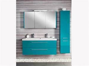 Meuble De Salle De Bain Bleu : meuble de salle de bain bleu turquoise resine de protection pour peinture ~ Teatrodelosmanantiales.com Idées de Décoration