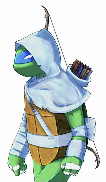 Leo Deviantart Ninja Tmnt Turtles Leonardo Drawings