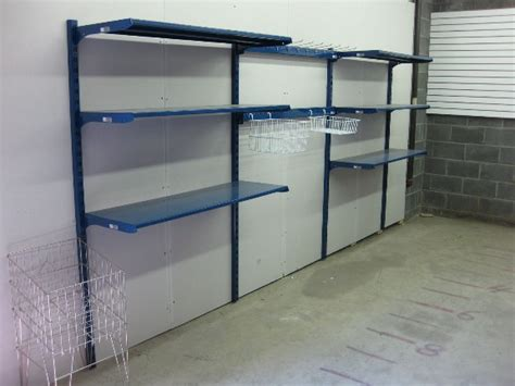 Garage Shelving Track by Fascinating Wall Mounted Garage Shelving Shelves Ideas At