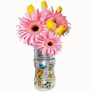 Bricolage Avec Objets De Récupération : vase en bouteille plastique t te modeler ~ Nature-et-papiers.com Idées de Décoration