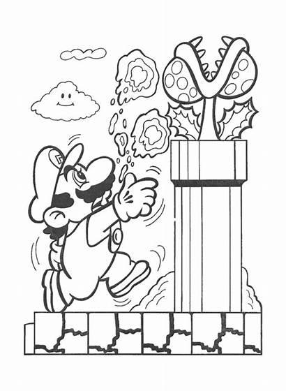 Coloring Nintendo Mario Bros Printable Pikmin Sheets