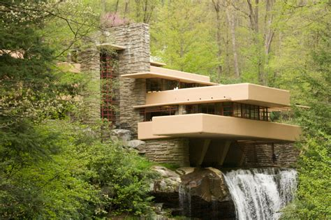 Nature House Falling Water Design By Frank Lloyd Wright