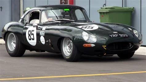 Jaguar E-type Race Car Loud Sound