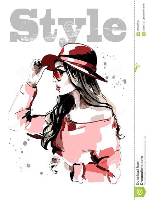 beautiful lady cartoons illustrations vector stock