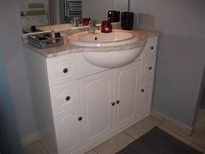 Relooker Meuble Salle De Bain : peindre meuble salle de bain ~ Melissatoandfro.com Idées de Décoration