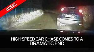 Banned driver filmed as police car slams him from road and ...