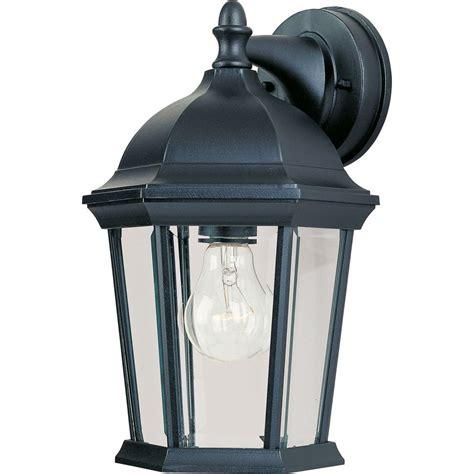 maxim lighting builder cast 1 light black outdoor wall