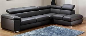 21 collection of black leather sectional sleeper sofas for Black leather modern sectional sofa sleeper with ottoman