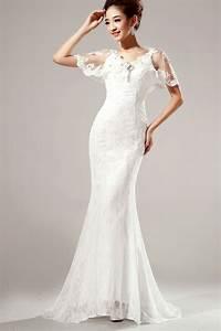 Elegant Diamond Embellished V Neck Short Sleeves White ...