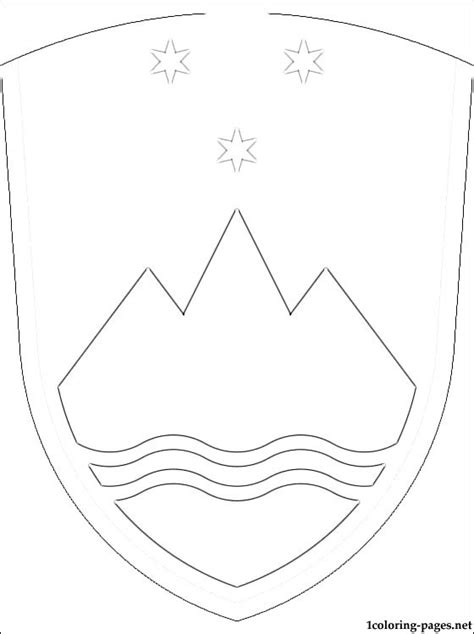 slovenia coat  arms coloring page coloring pages