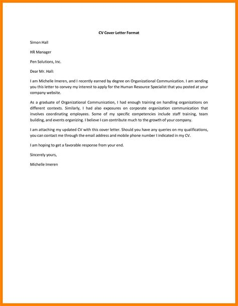 cover letter for sending resume to company 28 images