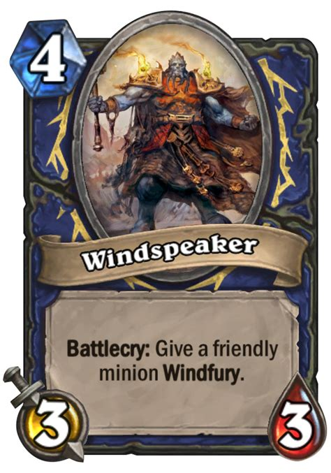 beginner shaman deck list windspeaker hearthstone card