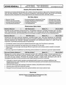 sample restaurant manager resume recentresumescom With resume templates for restaurant managers