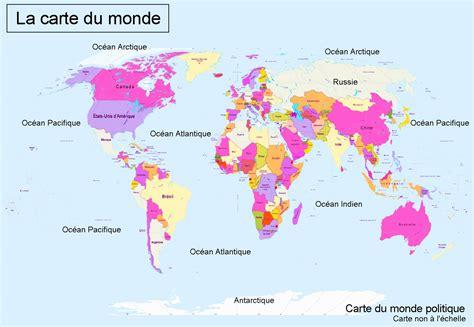 Carte Des Continents