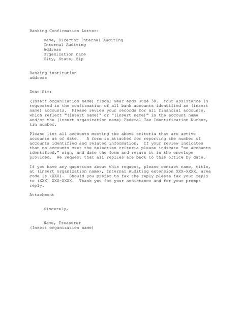 section 27 bank confirmation letter request letter for bank confirmation balance 28 images 58015