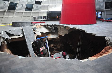 chevrolet  restore corvettes swallowed  sinkhole driving