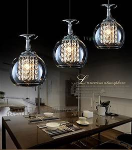 Lights bar crystal pendant lamps led hanging light glass