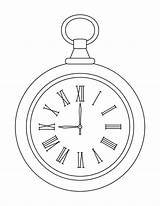 Clock Pocket Coloring Pages Alarm Drawing Outline Line Sheets Tattoo Alice Wonderland Template Drawings Wrist Tattoos Colouring Printable Watches Clocks sketch template