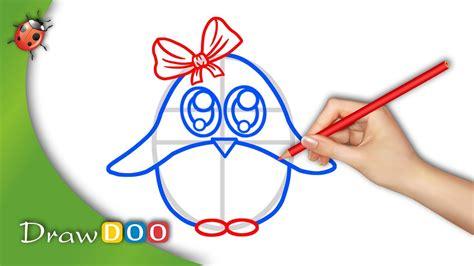 anime baby penguin  anime animals drawing tutorial
