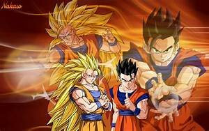 DBZ Goku SSJ3 and Ultimate Gohan by Nakaso on DeviantArt