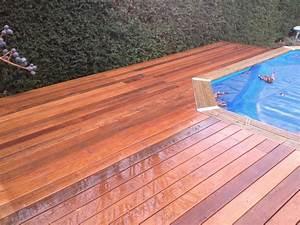 Tour De Piscine Bois : plage de piscine pour piscine hors sol en bois exotique ~ Premium-room.com Idées de Décoration