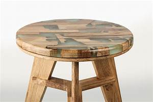 Unique Stool Design Utilizes Offcut Wood Combined With