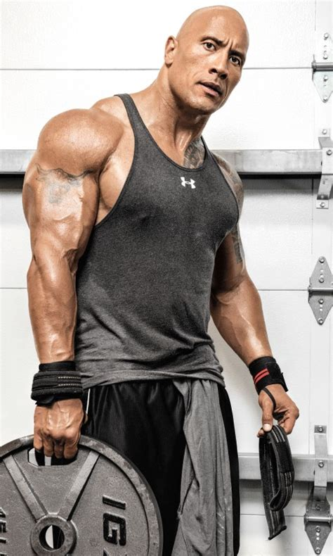 wallpaper  rock dwayne johnson weights workout