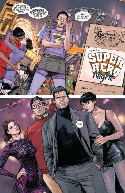 batman superman dc catwoman double date comics rebirth lois lane 37 costumes go bruce wayne selina kyle wedding role preview