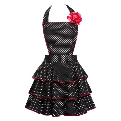 aprons for petite dot party black apron sexy retro hostess aprons