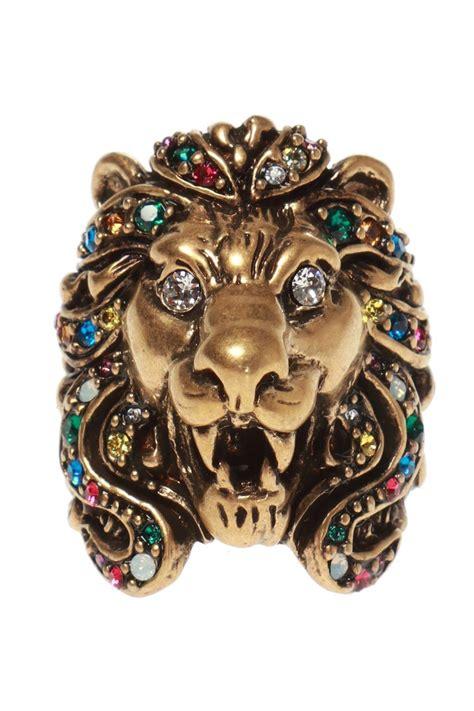 gucci lion head ring men lyst