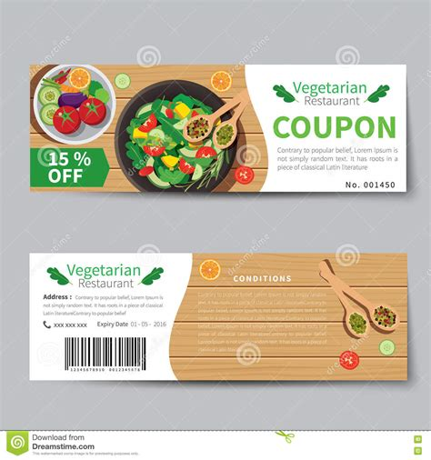 cuisine promotion meal voucher template meal voucher images stock
