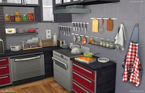 kitchen hanging accessories kitchen decor set the sims 4 darasims net 1787