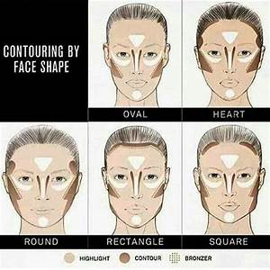 how to contour your face shape oval rectangle square heart ...