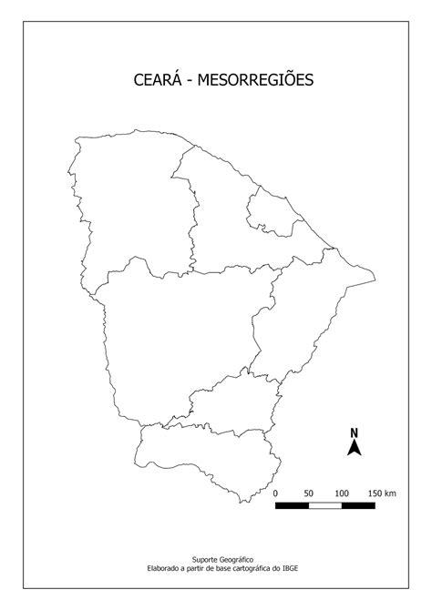 MAPAS PARA COLORIR CEARÁ Suporte Geográfico