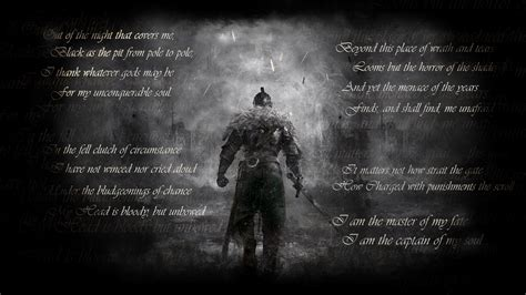 Wallpaper Of Poem by Saw The Poem Invictus Posted On This Sub A While Back